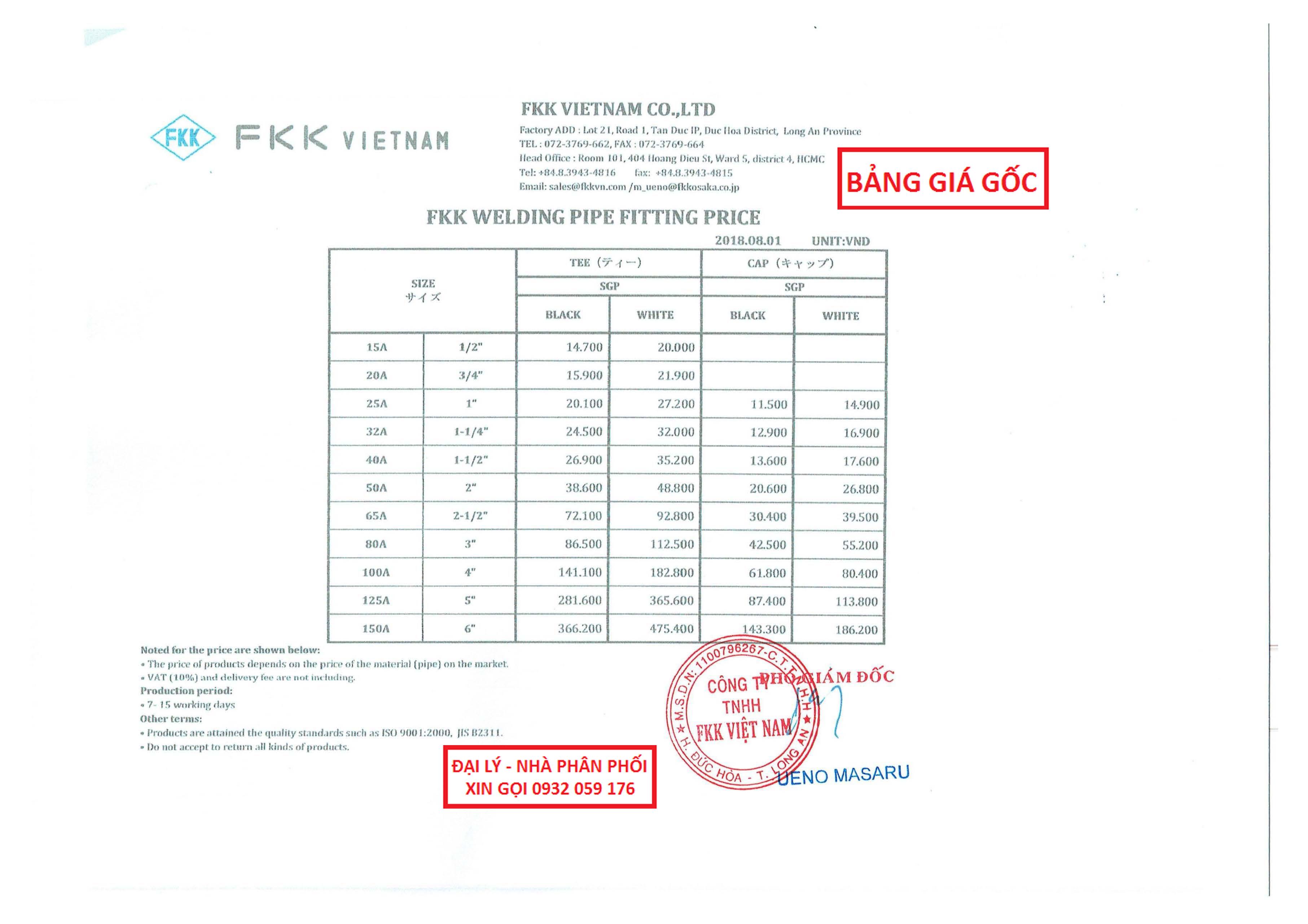bảng giá phụ kiện fkk mới nhất, phụ kiện fkk