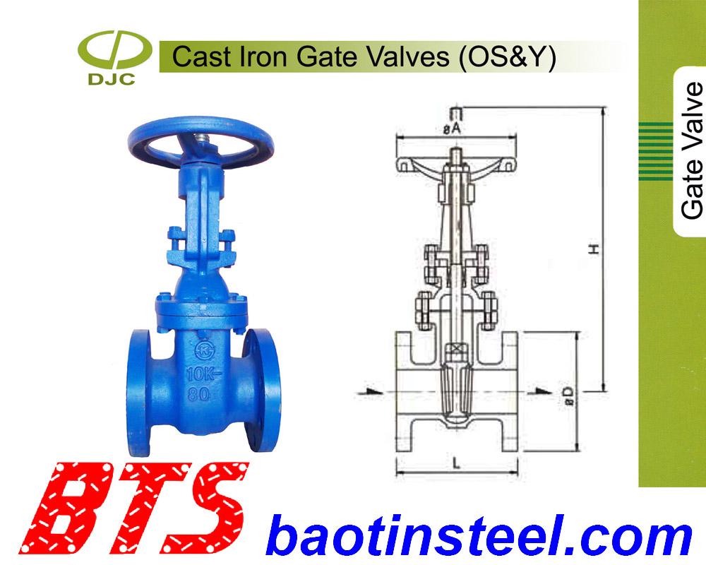 Van cửa ty nổi, cast iron gate valves Daejin (Korea)